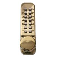 Simplex Keyless Knob Lock in Bright Brass Finish