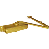 1261-REG-BRASS LCN Door Closer with Regular Arm in Brass Finish