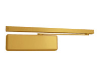 4013T-H-LH-BRASS LCN Door Closer with Hold-Open Arm in Brass Finish