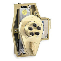 9350000-04-41 Simplex Spring Latch Lock with holdback and key override in Satin Brass finish