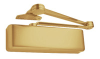 4040XP-SCUSH-US3 LCN Door Closer with Spring Cush Arm in Bright Brass Finish