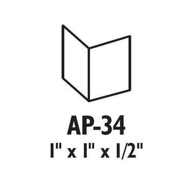 AP-34-625 Don Jo Door Flip Guard in Polished Chrome Finish