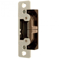 7400-606 Adams Rite UltraLine Electric Strike for Radius Jambs in Satin Brass Finish