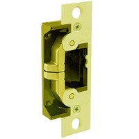 7440-605 Adams Rite UltraLine Electric Strike for steel and wood jambs and doors in Bright Brass Finish