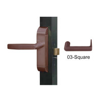 4600-03-612-US10B Adams Rite Heavy Duty Square Deadlatch Handles in Oil Rubbed Bronze Finish
