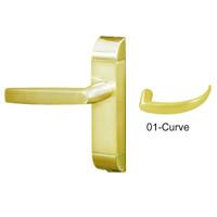 4600M-01-541-US3 Adams Rite Heavy Duty Curve Deadlatch Handles in Bright Brass Finish