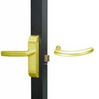 4600M-MG-551-US3 Adams Rite MG Designer Deadlatch handle in Bright Brass Finish