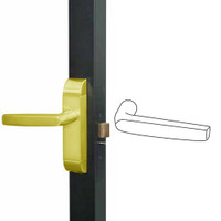 4600M-MJ-622-US3 Adams Rite MJ Designer Deadlatch handle in Bright Brass Finish