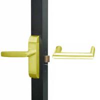 4600M-MW-651-US3 Adams Rite MW Designer Deadlatch handle in Bright Brass Finish