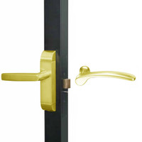 4600M-MN-651-US3 Adams Rite MN Designer Deadlatch handle in Bright Brass Finish