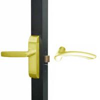 4600M-MV-521-US3 Adams Rite MV Designer Deadlatch handle in Bright Brass Finish