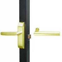 4600-MI-611-US3 Adams Rite MI Designer Deadlatch handle in Bright Brass Finish