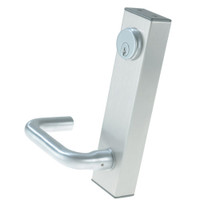 3080E-02-0-36-50 US32 Adams Rite Electrified Entry Trim with Round Lever in Bright Stainless Finish