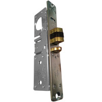 4511W-46-102-628 Adams Rite Standard Deadlatch with Radius Faceplate with weatherstrip in Clear Anodized Finish