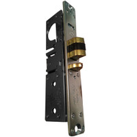 4511W-46-202-335 Adams Rite Standard Deadlatch with Radius Faceplate with weatherstrip in Black Anodized Finish
