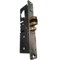 4512-16-101-335 Adams Rite Standard Deadlatch with Bevel Faceplate in Black Anodized Finish
