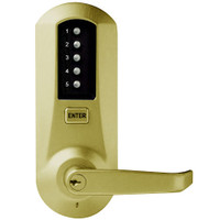 Simplex Pushbutton Lock in Satin Brass Finish