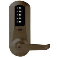 Simplex Pushbutton Lock in Oil-rubbed Bronze with Brass Accents Finish