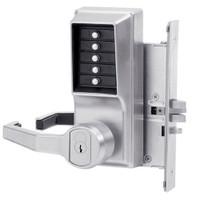 Simplex Pushbutton Lock in Satin Chrome Finish