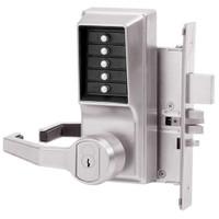 Simplex Pushbutton Lock in Bright Chrome Finish