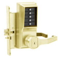 Simplex Pushbutton Lock in Antique Brass Finish