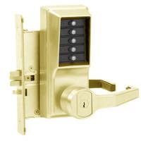 Simplex Pushbutton Lock in Antique Brass Finish