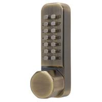Simplex Keyless Knob Lock in Antique Brass Finish