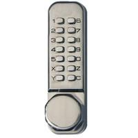 Simplex Keyless Knob Lock in Satin Stainless Finish