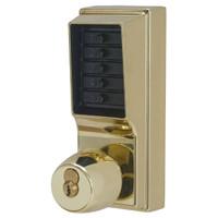 Simplex Pushbutton Lock in Bright Brass Finish