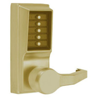 LR1012-05-41 Simplex Pushbutton Lever Lock with No Key Override in Antique Brass
