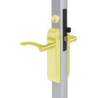 2190-443-201-03 Adams Rite Dual Force Interconnected 2190 series Deadlock/Deadlatch in Bright Brass