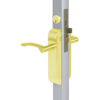 2290-412-203-03 Adams Rite Dual Force Interconnected 2290 series Deadlock/Deadlatch in Bright Brass