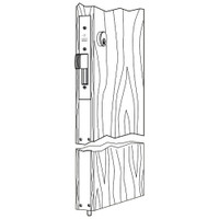 MS1837-628 Adams Rite Two-Point Deadlock in Clear Anodized