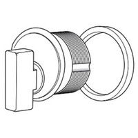 4066-03-335 Adams Rite Thumbturn Cylinder in Black Anodized