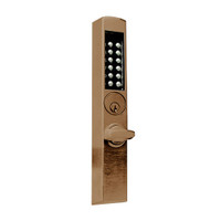E-Plex Electronic Pushbutton Lock in Dark Bronze with Brass Accents Finish