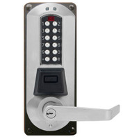 Eplex Electronic Pushbutton Lock in Satin Chrome Finish