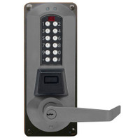 Eplex Pushbutton Lock in Black with Satin Chrome Accents Finish