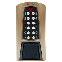 Eplex Stand-Alone Access Controller in Dark Bronze with Brass Accents Finish