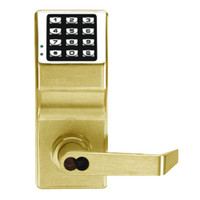 DL2700IC-C-US3 Alarm Lock Trilogy T2 Series Digital Cylindrical Keyless Lock Leverset with Corbin Core Override in Polished Brass