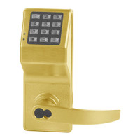 DL2775IC-R-US3 Alarm Lock Trilogy T2 Series Digital Cylindrical Keyless Lock Regal Leverset with Sargent Core Override in Polished Brass