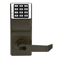 DL2700WPIC-C-US10B Alarm Lock Trilogy T2 Series Weatherproof Digital Cylindrical Keyless Lock Leverset with Corbin Core Override in Duronodic