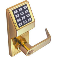 DL3000WPIC-R-US3 Alarm Lock Trilogy Electronic Digital Lock in Polished Brass Finish