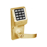 DL3075WPIC-R-US3 Alarm Lock Trilogy Electronic Digital Lock in Polished Brass Finish