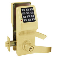DL5275-US3 Alarm Lock Trilogy Electronic Digital Lock in Polished Brass Finish