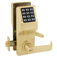 DL5200IC-US3 Alarm Lock Trilogy Electronic Digital Lock in Polished Brass Finish