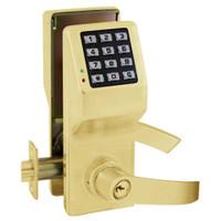 DL5375IC-US3 Alarm Lock Trilogy Electronic Digital Lock in Polished Brass Finish