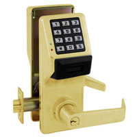 PDL5300IC-US3 Alarm Lock Trilogy Electronic Digital Lock in Polished Brass Finish