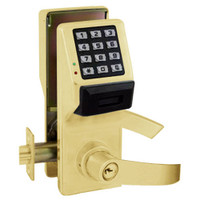 PDL5375IC-US3 Alarm Lock Trilogy Electronic Digital Lock in Polished Brass Finish