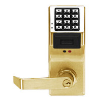 PDL4100IC-US3 Alarm Lock Trilogy Electronic Digital Lock in Polished Brass Finish