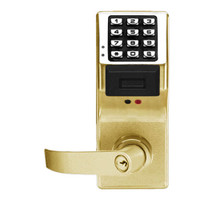 PDL4175IC-US3 Alarm Lock Trilogy Electronic Digital Lock in Polished Brass Finish